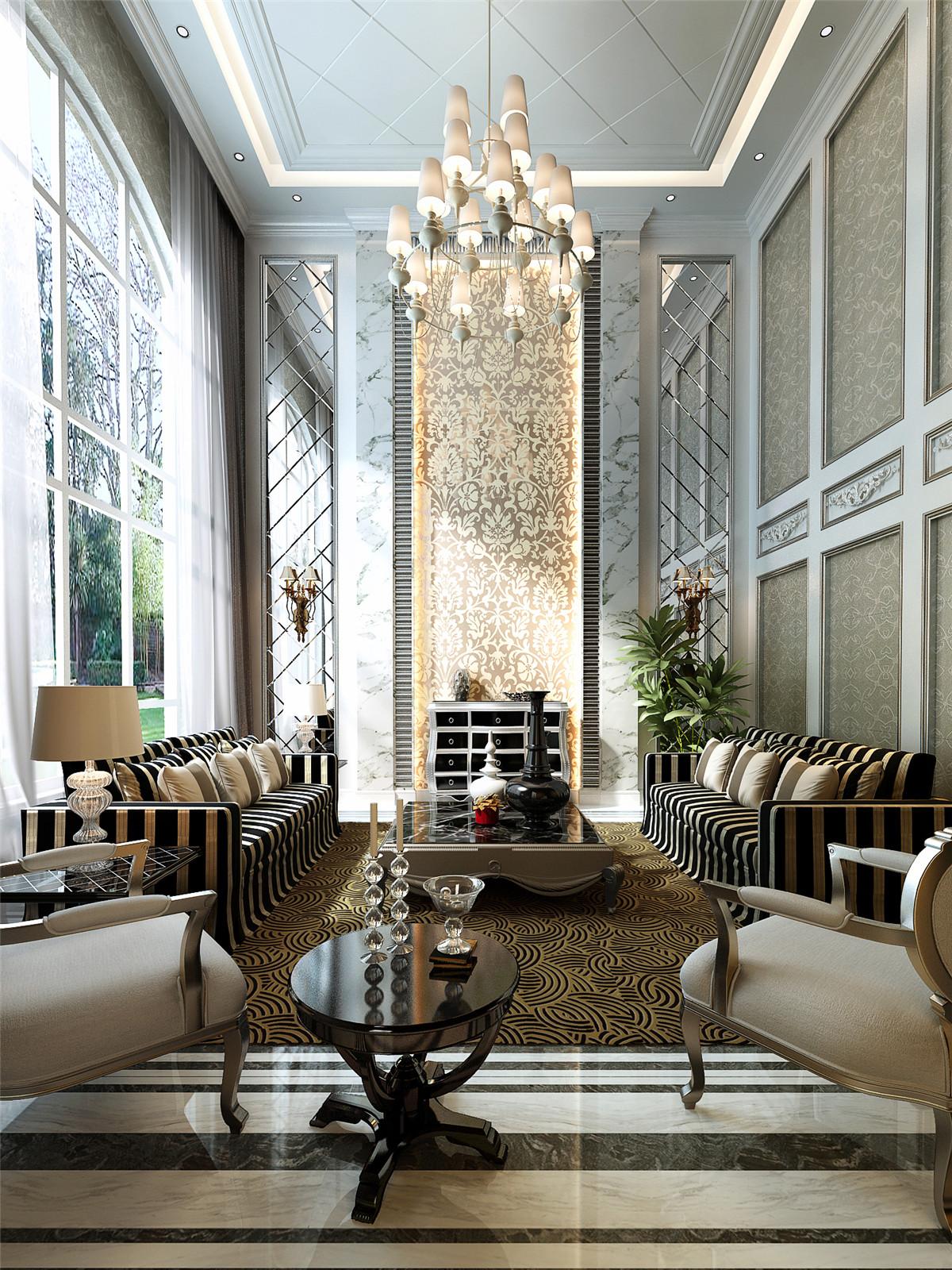 欧式 简约 现代 别墅 奥邦装饰 韦青华 客厅图片来自上海奥邦装饰在上海博园岚郡别墅户型欧式风格的分享