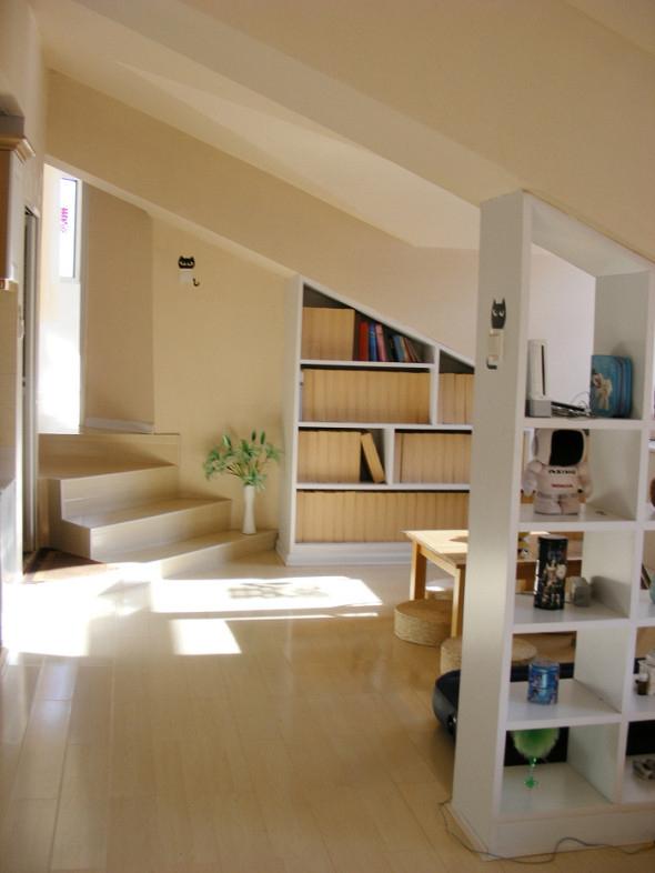 旧房改造 收纳 书房图片来自今朝装饰老房专线在阁楼装修,沁春家园的分享