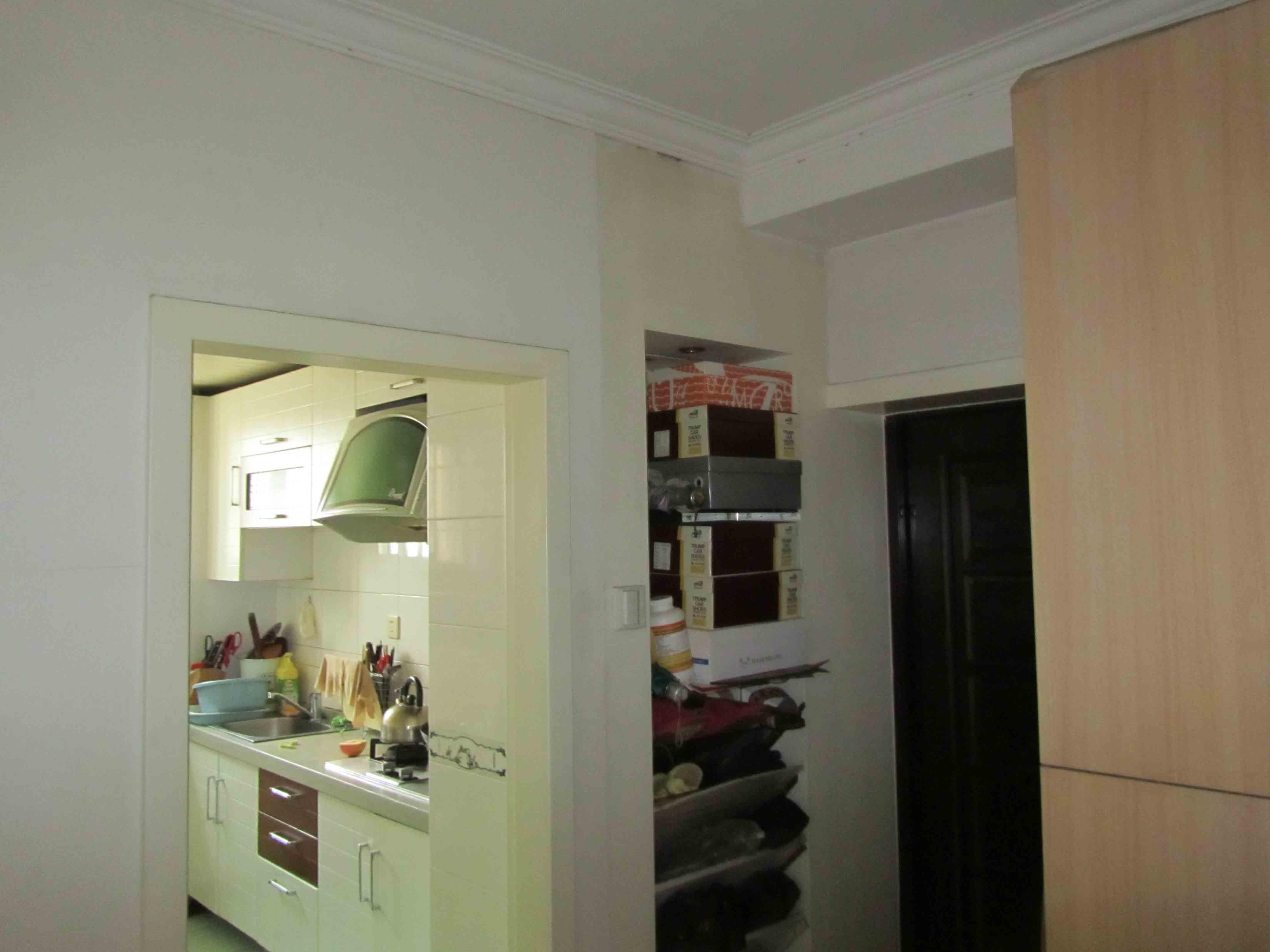 二居 旧房改造 收纳 厨房图片来自今朝装饰老房专线在72平,现代风,望京老房的分享