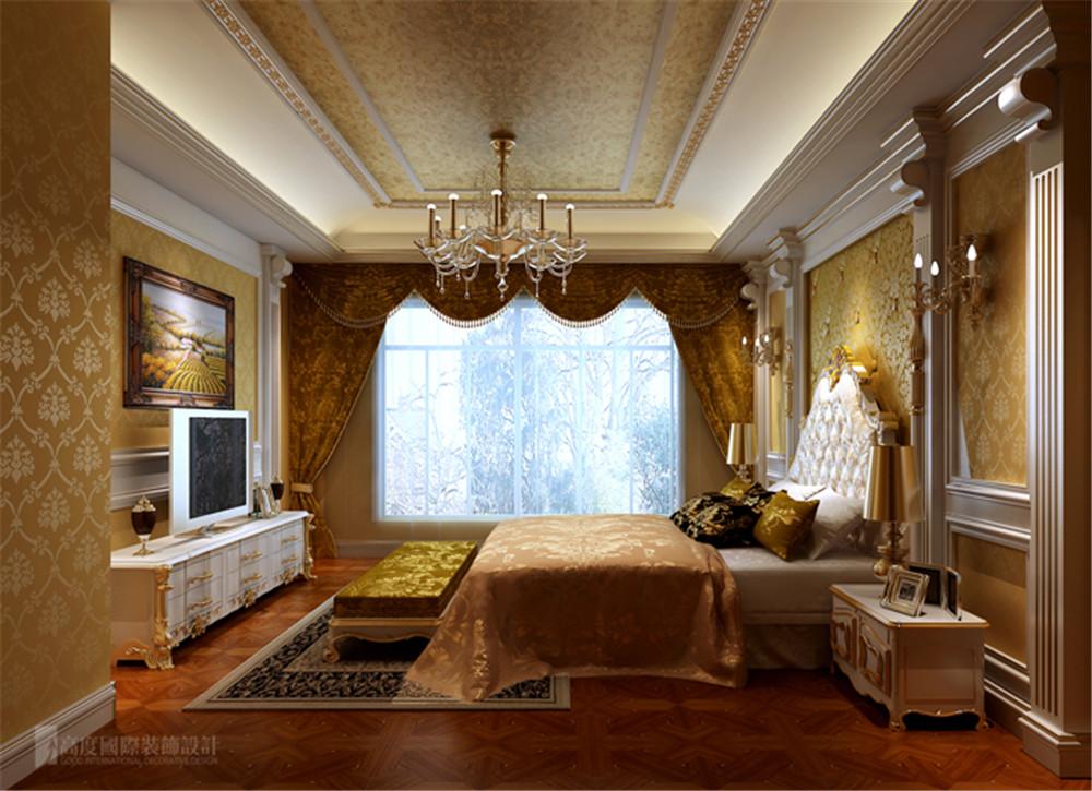 别墅 润泽庄园 设计 案例 效果图 卧室图片来自高度国际别墅装饰设计在润泽庄园的分享
