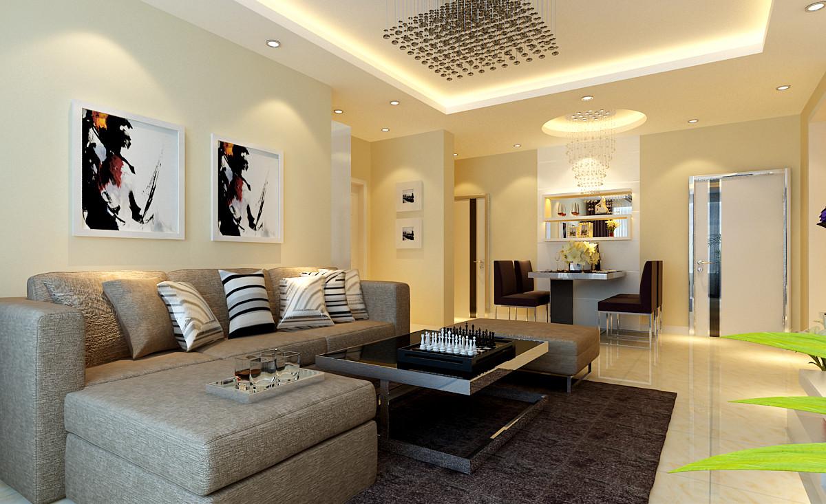 客厅图片来自大业美家装饰在升龙城110平简约温馨装修的分享