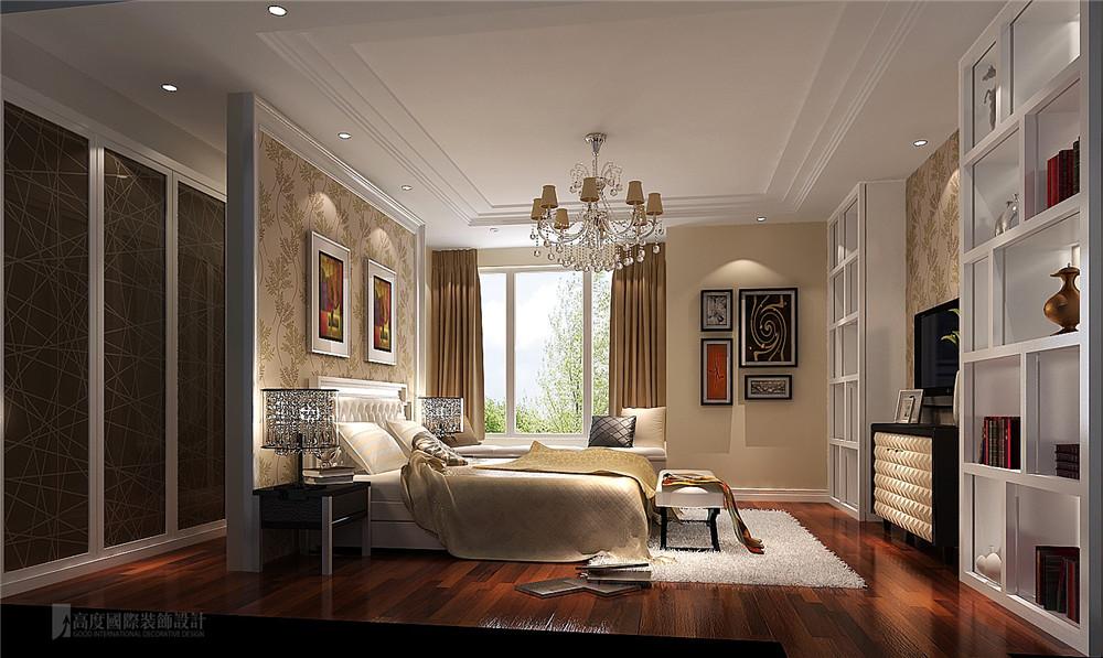 别墅 装修 设计 中式 收纳 卧室图片来自高度国际别墅装饰设计在8哩岛280平米下叠别墅设计效果图的分享