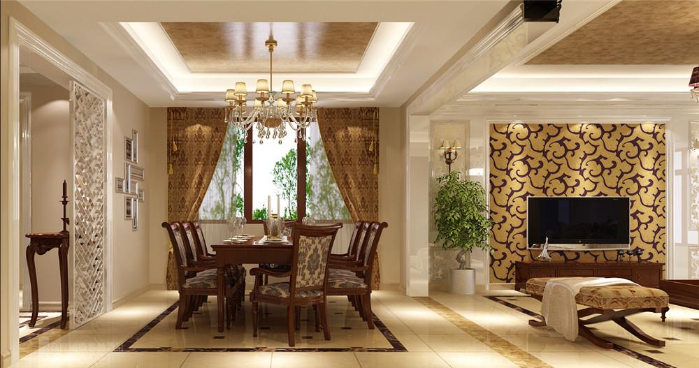 简约 欧式 装修 设计 别墅 餐厅图片来自高度国际别墅装饰设计在潮白河孔雀城联排别墅的分享