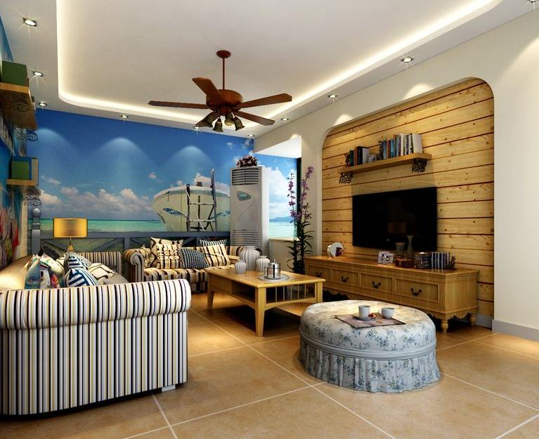 地中海风格 锦艺华都 美巢装饰 客厅图片来自美巢装饰在锦艺华都90平小三房地中海风格的分享