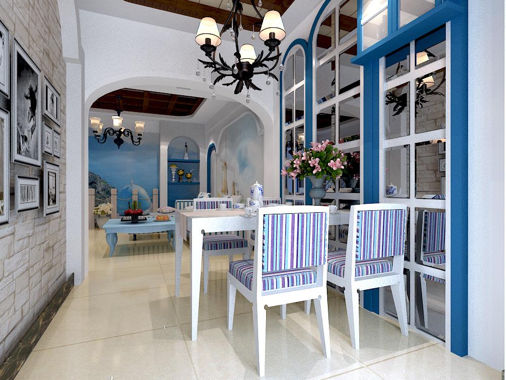餐厅图片来自今朝装饰老房专线在118平,轻工,地中海风格的分享