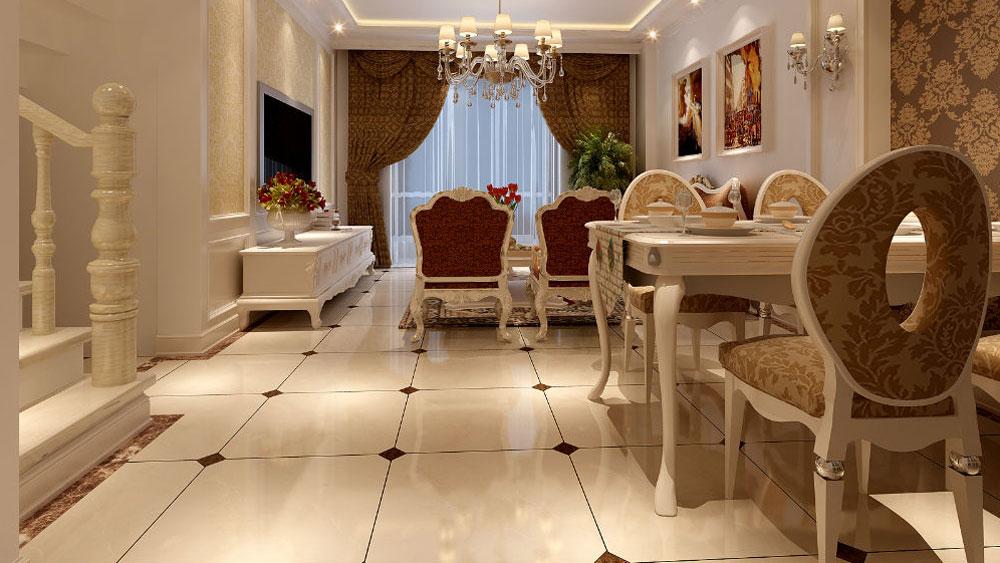 新古典风格 两居室 西山国际城 高度国际 装修设计 餐厅图片来自高度国际装饰宋增会在西山国际城 两居室 新古典风格的分享