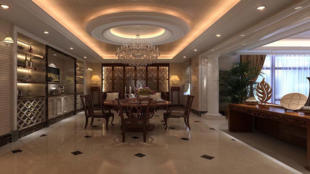 简欧风格 蓝湖君山 别墅 高度国际 装修设计 餐厅图片来自高度国际装饰宋增会在蓝湖君山 别墅 简欧风格的分享