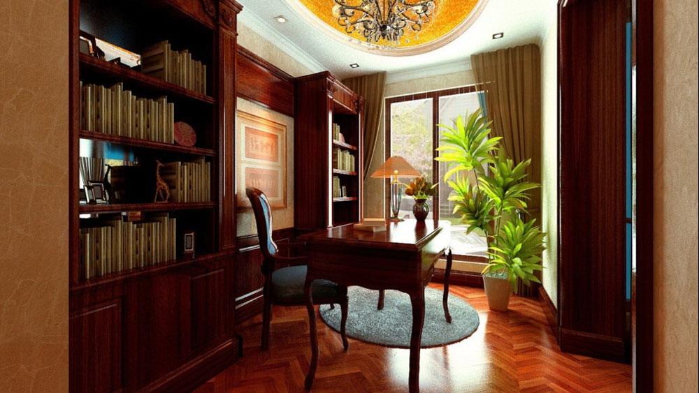 时尚混搭 三居室 长滩壹号 高度国际 装修设计 书房图片来自高度国际装饰宋增会在长滩壹号 三居室 时尚混搭风格的分享
