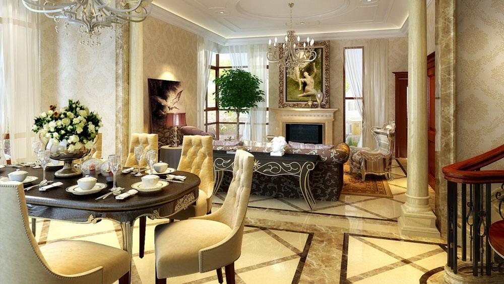 欧式田园 孔雀城 别墅 高度国际 装修设计 客厅图片来自高度国际装饰宋增会在孔雀城 别墅 欧式田园风格的分享