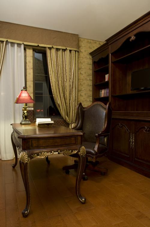 别墅装修 别墅设计 别墅公司 书房图片来自天津别墅装修在复地温莎堡的分享