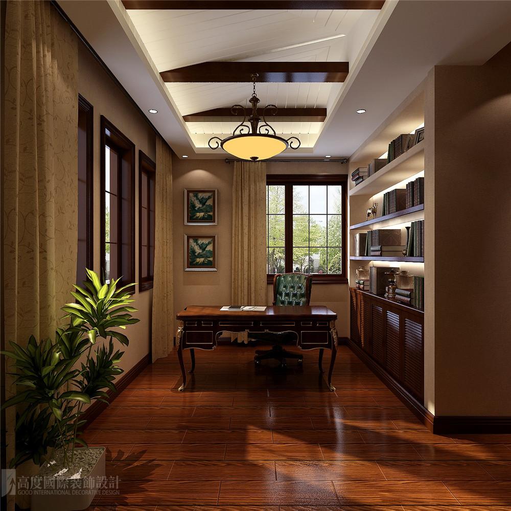 别墅 设计 装修 托斯卡纳 健康 书房图片来自高度国际别墅装饰设计在托斯卡纳风格别墅装修设计效果图的分享