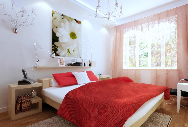 简约 卧室图片来自今朝装饰老房专线在2居室,现代时尚风的分享