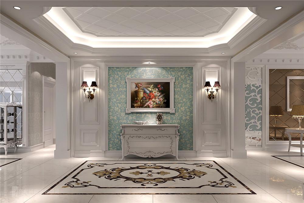 欧式 别墅 装修 设计 玄关图片来自高度国际别墅装饰设计在欧式奢华风格装修设计的分享
