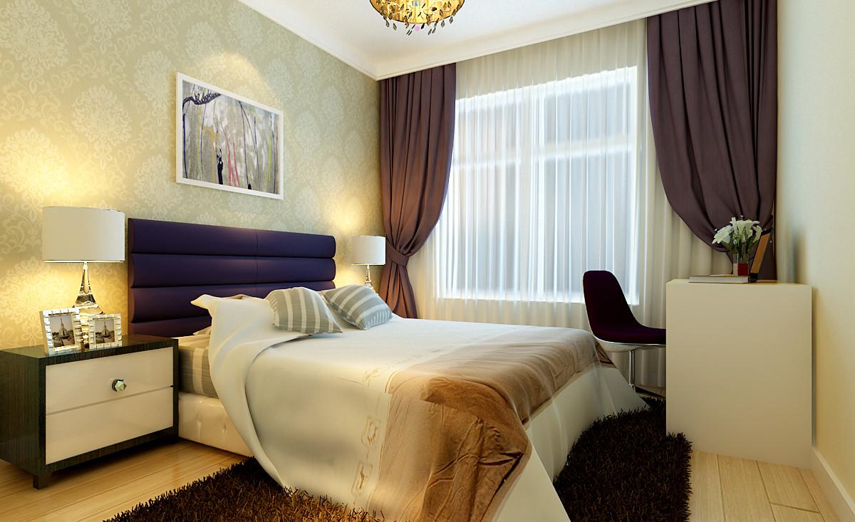 卧室图片来自大业美家装饰在升龙城110平简约温馨装修的分享