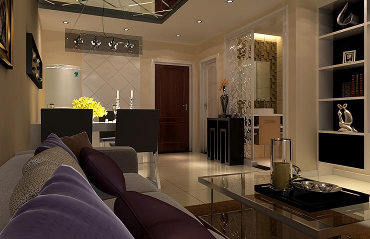 客厅图片来自美巢装饰在瀚海泰苑三室88平现代简约装修的分享