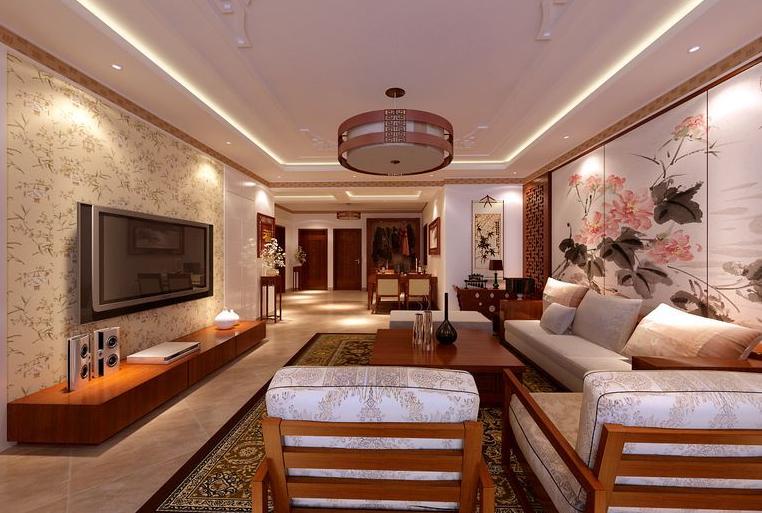 客厅图片来自美巢装饰在建业贰号城邦150平中式古典风格的分享