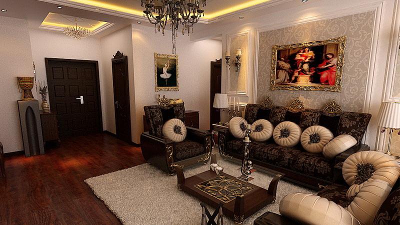 欧式风格 两居室 阳光小区 高度国际 装修设计 客厅图片来自高度国际装饰宋增会在阳光小区 两居室 欧式风格的分享