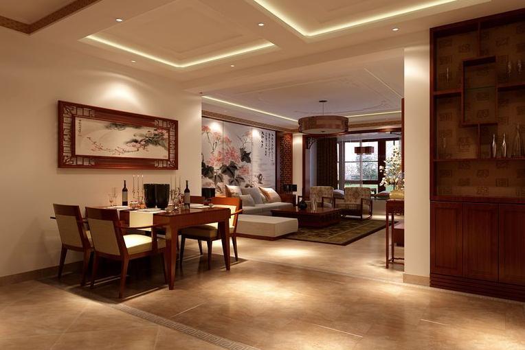餐厅图片来自美巢装饰在建业贰号城邦150平中式古典风格的分享