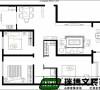 户型优点:南北通透,空间宽敞,功能区较合适。  户型缺点:走廊过长,餐厅太开放。