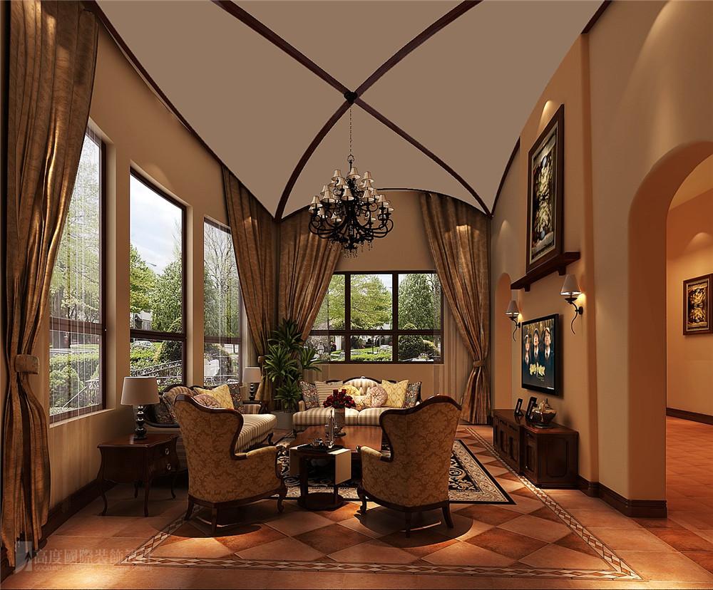 客厅 客厅图片来自高度国际别墅装饰设计在万万树托斯卡纳风格装修效果图的分享