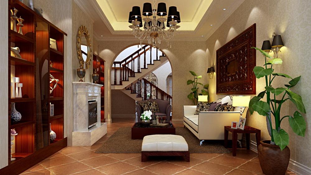 中式风格 别墅 园墅 高度国际 装修设计 客厅图片来自高度国际装饰宋增会在园墅 别墅 中式风格的分享
