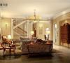 名雕丹迪别墅设计-星河丹堤别墅——美式客厅:客厅作为待客区域,一般要求简洁明快,同时装修较其它空间要更明快光鲜,通常使用大量的石材和木饰面装饰;总体而言,美式田园风格的客厅是宽敞而富有历史气息的。