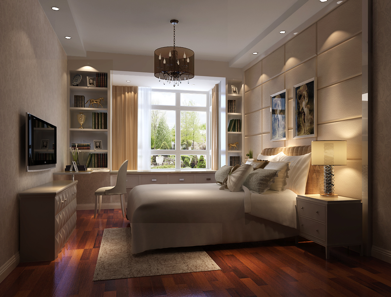 简约 现代 时尚 高度国际 白富美 世华泊郡 三居 白领 80后 卧室图片来自北京高度国际装饰设计在世华泊郡品质婚房的分享