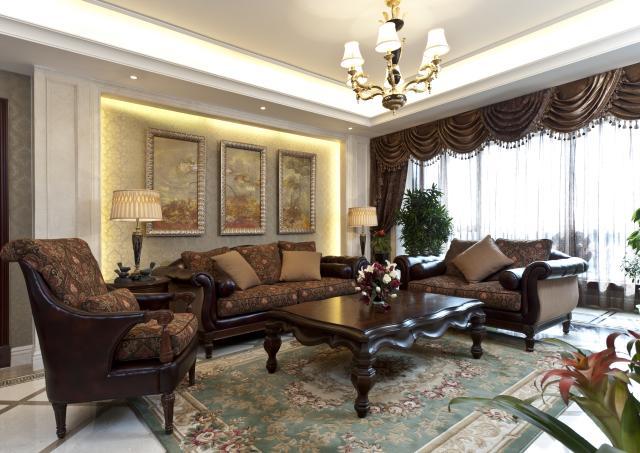 客厅图片来自天津别墅装修在都会轩的分享