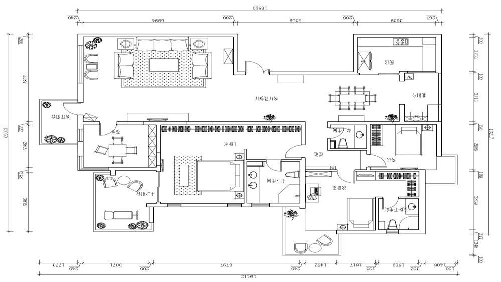 现代简约 四居室 顺驰林海 高度国际 装修设计 户型图图片来自高度国际装饰宋增会在顺驰林海 四居室 现代简约的分享
