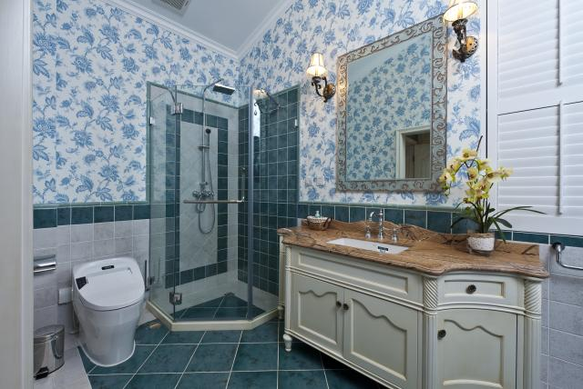 别墅公司 别墅设计 别墅装修 卫生间图片来自天津别墅装修在花样年华郡的分享