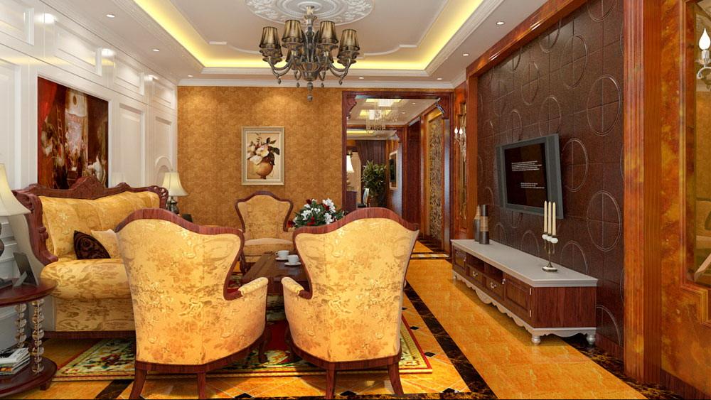 古典欧式 三居室 天峰北苑 高度国际 装修设计 客厅图片来自高度国际装饰宋增会在天峰北苑 三居室 古典欧式的分享
