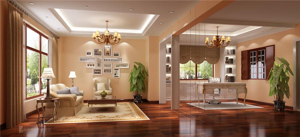 简约 欧式 装修 设计 别墅 卧室图片来自高度国际别墅装饰设计在潮白河孔雀城联排别墅的分享