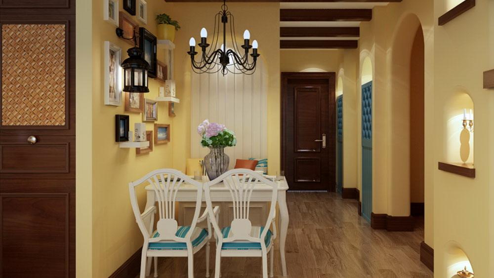 地中海 三居室 万年花城 高度国际 装修设计 餐厅图片来自高度国际装饰宋增会在万年花城 三居室 地中海的分享