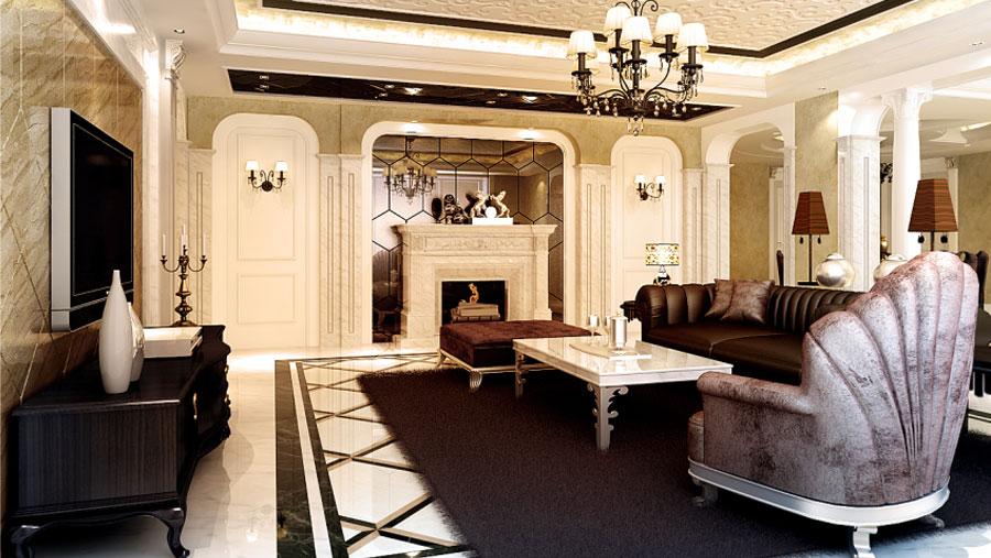 新古典风格 三居室 高度国际 装修设计 高度希文 客厅图片来自高度国际装饰宋增会在龙湖.唐宁ONE 三居室 新古典风格的分享