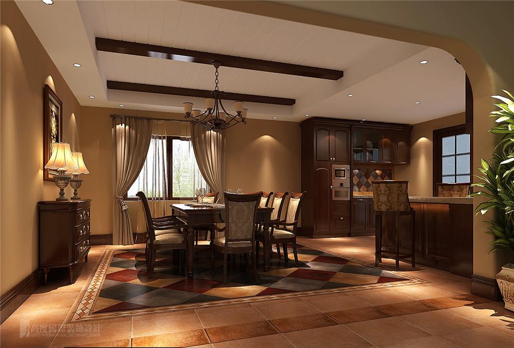 餐厅 别墅 托斯卡纳 餐厅图片来自高度国际别墅装饰设计在万万树托斯卡纳风格装修效果图的分享