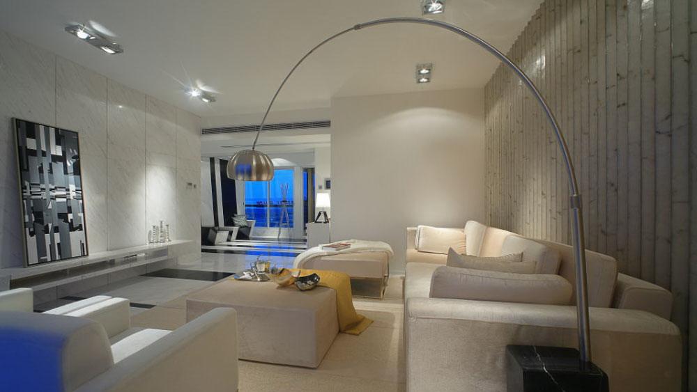 现代简约 四居室 绿地 高度国际 装修设计 客厅图片来自高度国际装饰宋增会在绿地 四居室 现代简约的分享