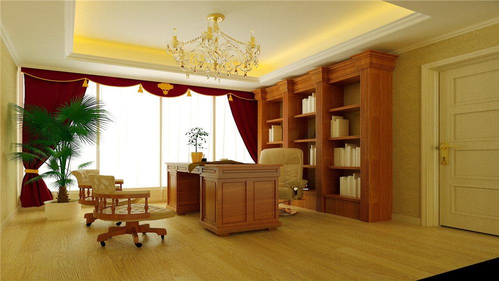 欧式 别墅 汤泉逸墅 高度国际 装修设计 书房图片来自高度国际装饰宋增会在汤泉逸墅 别墅 欧式的分享