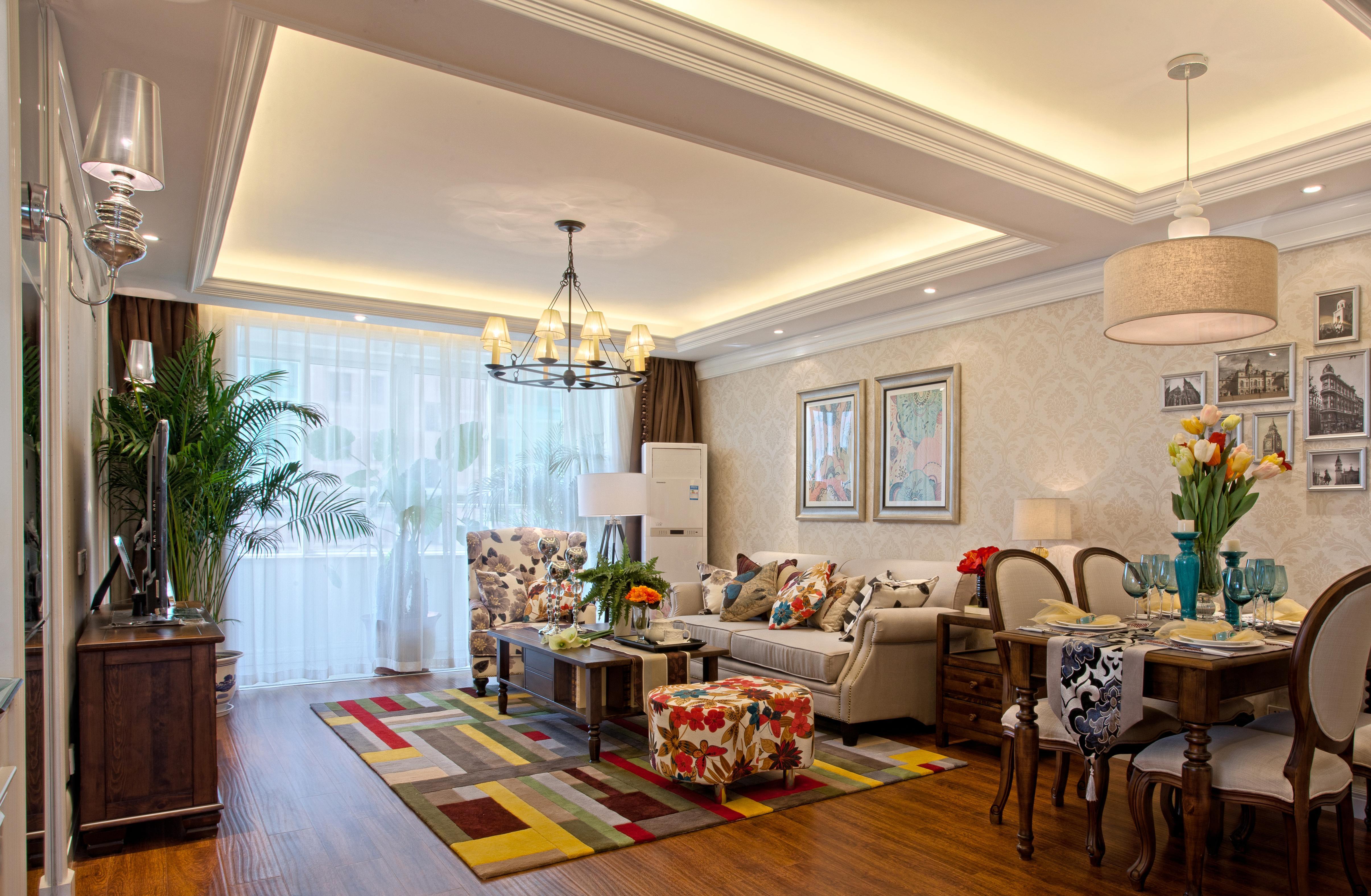 客厅图片来自成都金煌装饰在耐人寻味的港式风格的分享