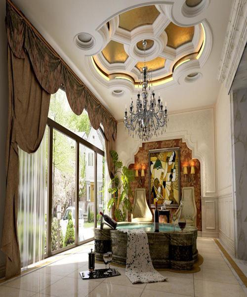 别墅装修 别墅设计 别墅公司 客厅图片来自天津别墅装修在大地十二城的分享