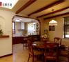 名雕丹迪别墅设计-星河丹堤别墅——美式餐厅