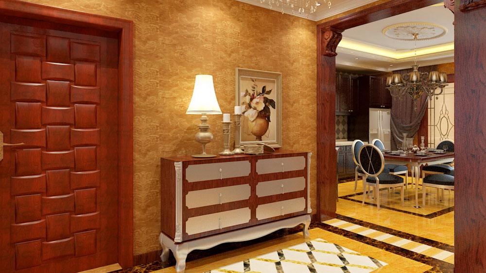 古典欧式 三居室 天峰北苑 高度国际 装修设计 玄关图片来自高度国际装饰宋增会在天峰北苑 三居室 古典欧式的分享