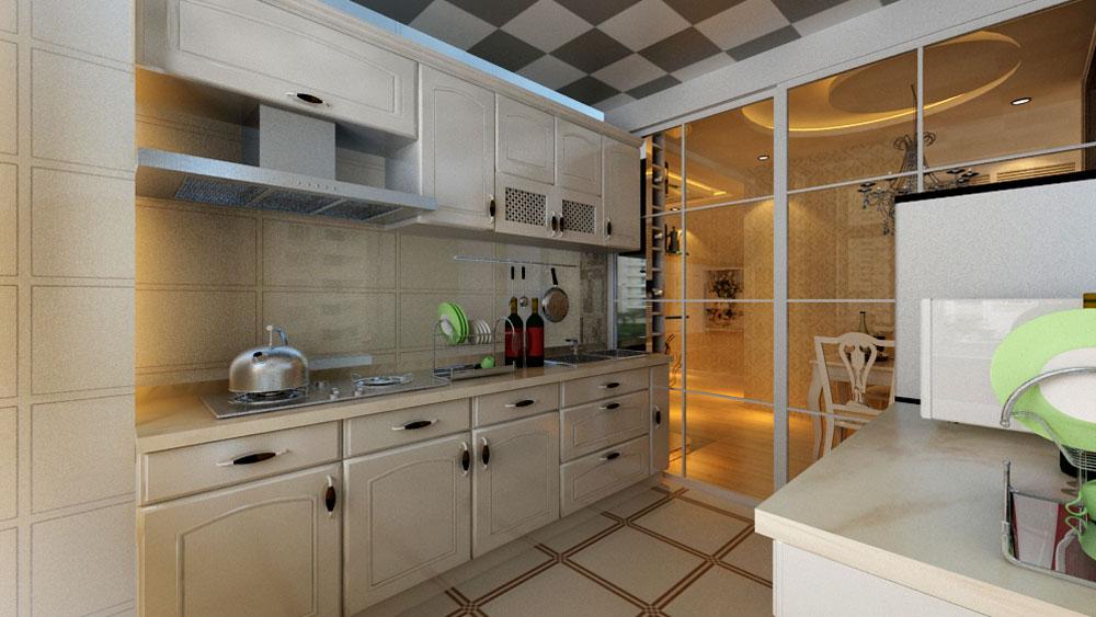 简欧风格 三居室 城区花园 高度国际 装修设计 厨房图片来自高度国际装饰宋增会在城区花园 三居室 简欧风格的分享