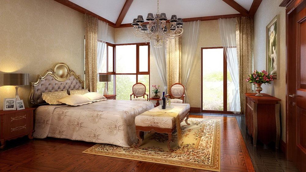 欧式田园 孔雀城 别墅 高度国际 装修设计 卧室图片来自高度国际装饰宋增会在孔雀城 别墅 欧式田园风格的分享