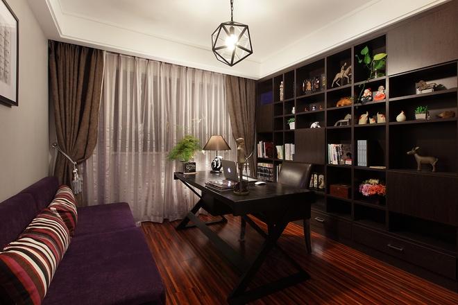 现代简约 三居室设计 书房图片来自上海实创-装修设计效果图在136平现代简约清爽舒适家居风的分享