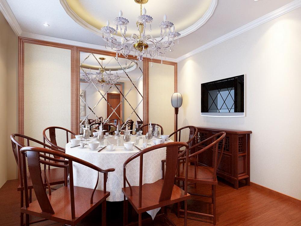 中式风格 长沙路小区 别墅 高度国际 装修设计 餐厅图片来自高度国际装饰宋增会在长沙路小区 别墅 中式风格的分享