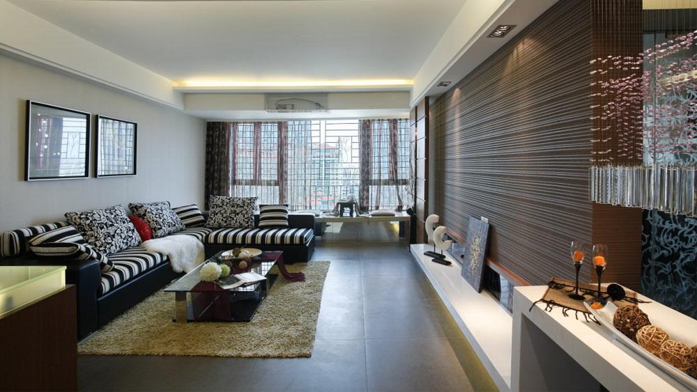 后现代风格 四居室 紫晶城 高度国际 装修设计 客厅图片来自高度国际装饰宋增会在紫晶城 四居室 后现代风格的分享