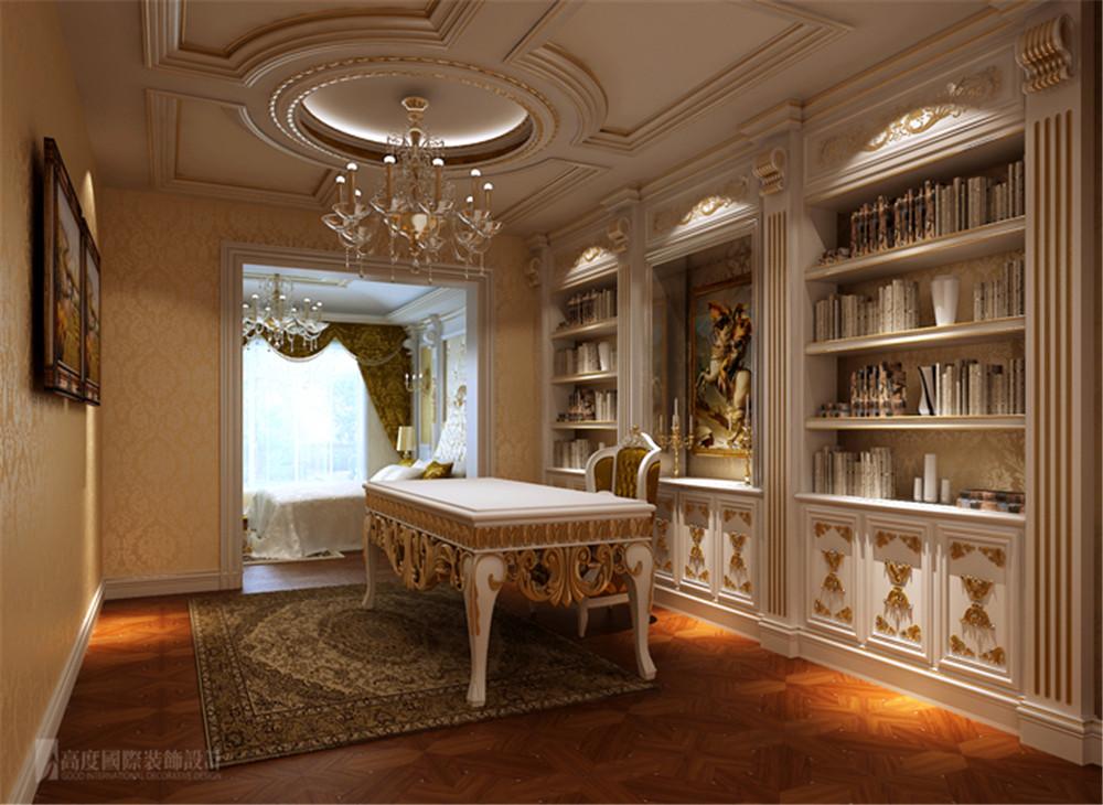 别墅 润泽庄园 设计 案例 效果图 书房图片来自高度国际别墅装饰设计在润泽庄园的分享