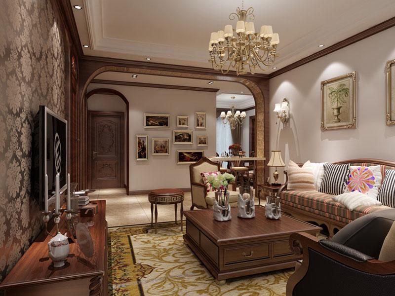 客厅图片来自多芬宝贝在正商蓝海港湾-美式风格的分享