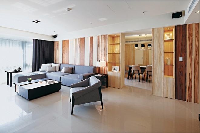 客厅图片来自家装大管家在自然朴实 98平现代简洁舒适之家的分享