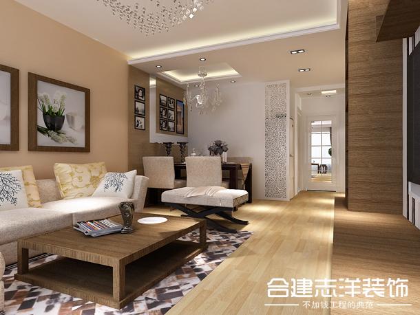 简约 合建装饰 小资 新中式 客厅图片来自北京合建装饰在国风美唐的简约风的分享